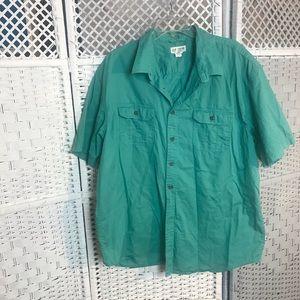 Magellan outdoors teal fishing men's 2XL shirt